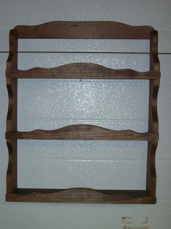 handmade wall spice rack--13 stain options