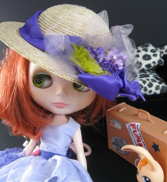 Doll Hat - Blythe/Pullip/BJD - Straw with Round Crown
