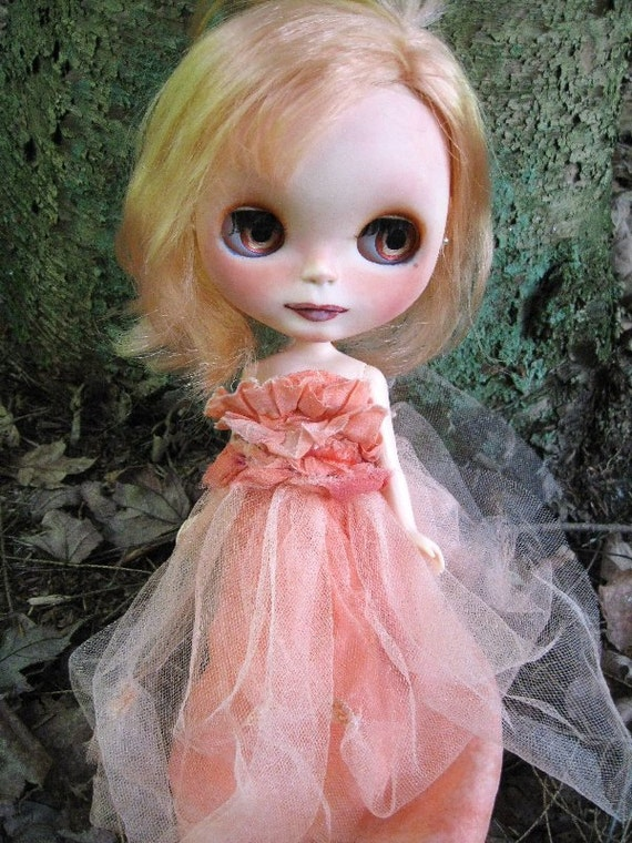 ON RESERVE - Tangerine - OOAK Blythe Art Doll - On Layaway