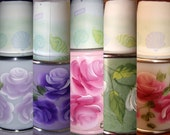 Custom Painted & Designed Dixie 3-5 Oz Cup Dispenser Chic Roses Shabby Floral