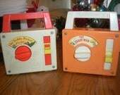 Set of 2 1970s Fisher Price Radios -Teddy Bear Picnic and The Candy Man - theamericanhomemaker