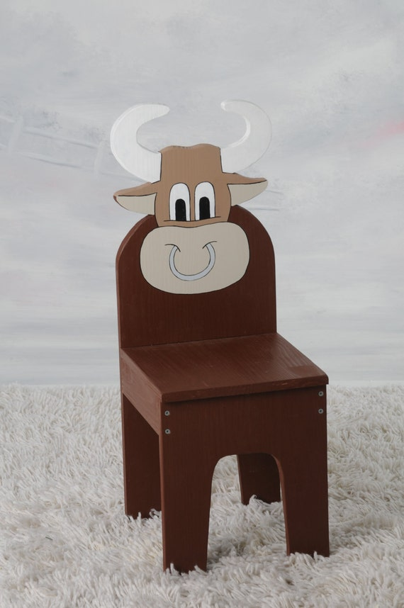 items similar to ichart kids bull cow chair children 39 s furniture on etsy. Black Bedroom Furniture Sets. Home Design Ideas