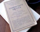 Community Drama Motive and Method of Neighborliness 1917 Percy Mackaye 1st  Edition