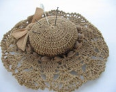Vintage Crocheted Hat Pincushion