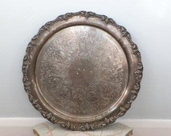 Over-Sized Vintage Silverplate Platter
