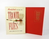 Vintage Book Fishing Guide To TROUT FLIES Crafting Feathers Vacation 1950s PeachyChicBoutique on Etsy