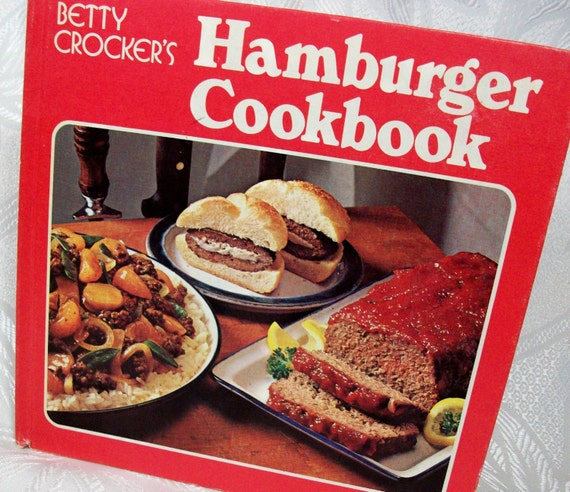 Vintage Betty Crocker Hamburger Cookbook Red by ...