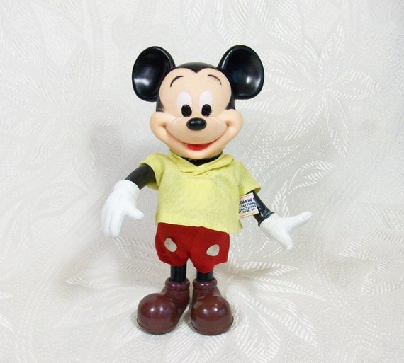 Vintage Mickey Mouse Doll Figurine Walt By Peachychicboutique