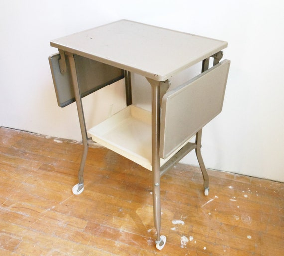 Vintage Typewriter Table Metal Mid Century Industrial Office Furniture Home Decor PeachyChicBoutique on Etsy