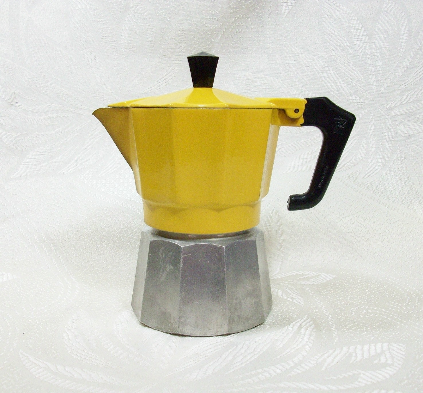 RESERVED Espresso Moka Pot Yellow Metal European Italian