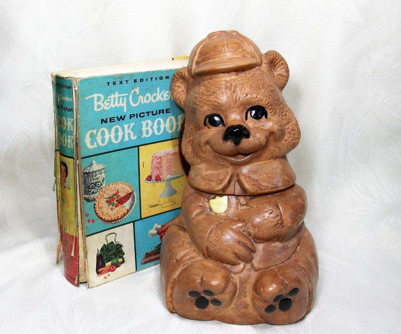 Vintage Teddy Bear Cookie Jar Kitsch Kitchen By