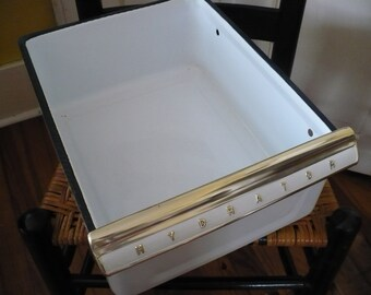 SALE Retro Enamel Drawer