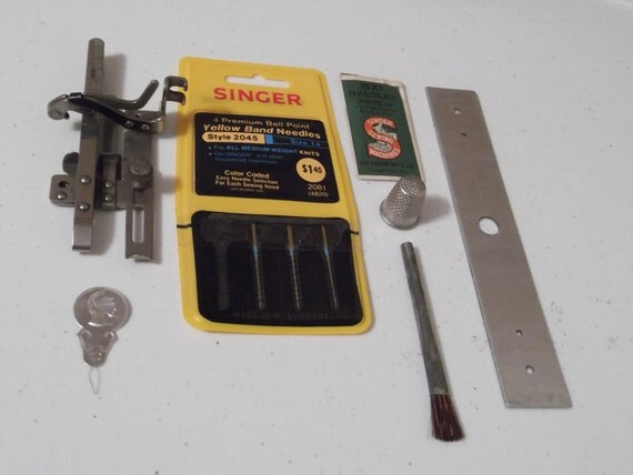 RESERVED FOR THERESA T Vintage Singer Sewing Machine Supplies Lot Needles Mystery Parts
