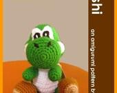 PDF Amigurumi Pattern - Yoshi inspired doll Dinosaur