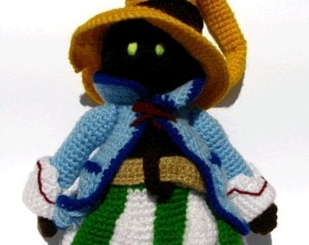 Vivi from Final Fantasy inspired doll - PDF Amigurumi Pattern