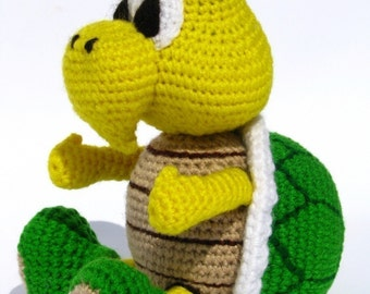 Koopa Troopa inspired doll - PDF amigurumi crochet pattern