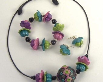 Whimsical Blossom jewelry set