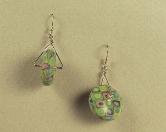 Garden Mosaic Trapeze Earrings
