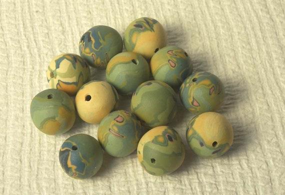 Half Price Sale - 13 Earth Beads