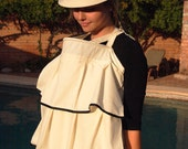 Breastfeeding Top-The Feeder Frock Baby Nursing Cover-Cotton Luxe-Alicia Style-Cream and Black