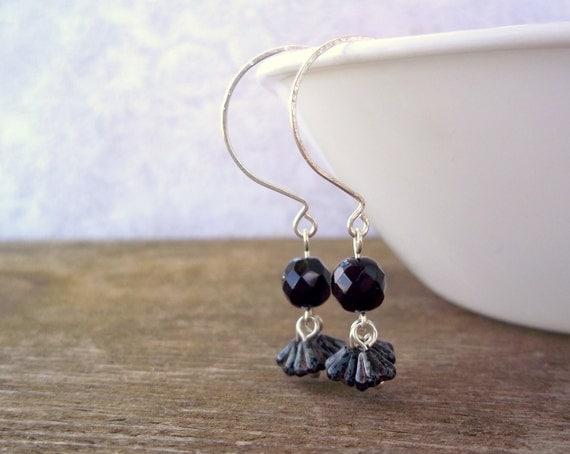 Dark delicacies black earrings