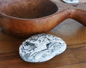 Rock Paperweight Vintage Decoupage