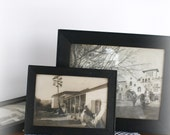 Vintage Black and White Photo Trio SALE Shabby Chic by Leeleescloset