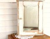 Vintage Shabby Chic Medicine Cabinet Rustic Woodland  Farmhouse by Leeleescloset