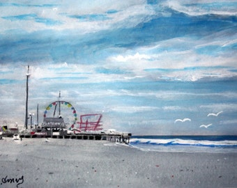 Seaside Boardwalk SIGNED PRINTS 8 X 10 - 25.00, 11 x 14 - 30.00, 13 X 19- 35.00. Message me and I will list them for you.