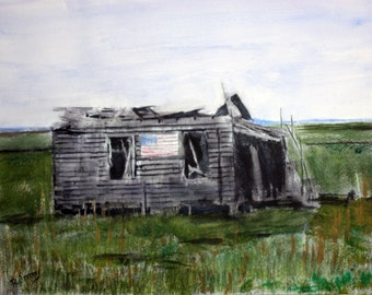 Jersey Shore Shack - signed print of my original watercolor 8 x 10 painting