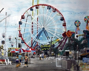 Fun Town at Seaside down the Jersey Shore  ----8 x 10 print