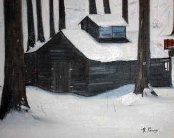 Ol Sugarhouse in Vermont--Original-SIGNED PRINTS 8 X 10 - 15.00, 11 x 14 - 25.00, 13 X 19- 35.00. Message me and I will list them for you.
