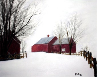 Just Around the Bend in Vermont-Original--SIGNED PRINTS 8 X 10 - 25.00, 11 x 14 - 30.00, 13 X 19- 35.00. Message me and I will list them .