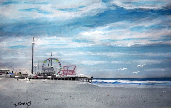 Seaside Boardwalk SIGNED PRINTS 8 X 10 - 15.00, 11 x 14 - 25.00, 13 X 19- 35.00. Message me and I will list them for you.