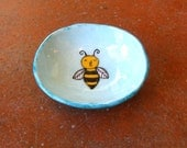 Tiny Bumble Bee Dish with Feet - by  Marcia Hovland