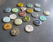 Mixed Selection of Handmade Ceramic Buttons for Sewing- You choose which one(s) you want