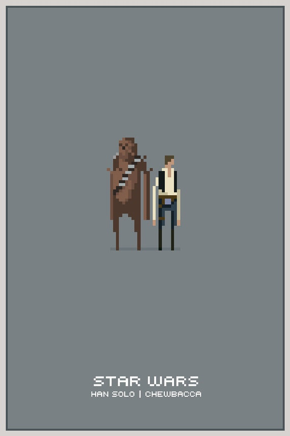 11x17 poster template photoshop - han chewie 11x17 pixel poster framed