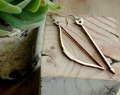 Bow and Arrow Wooden Earrings