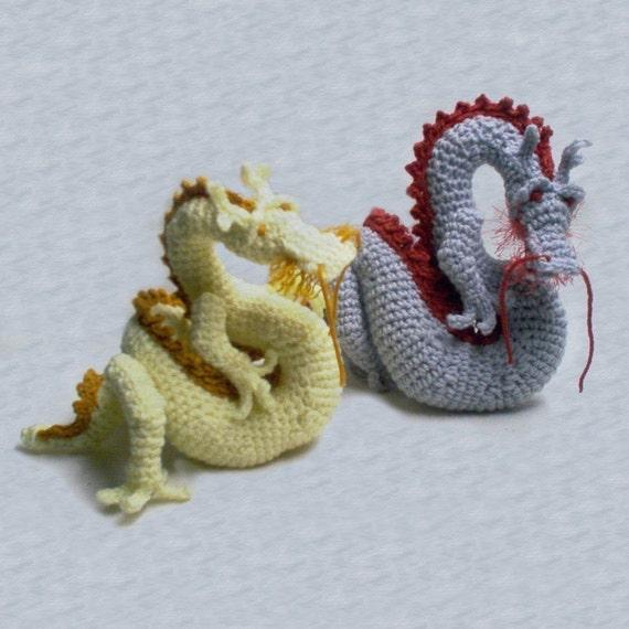 Asian Dragon amigurumi pattern by skyfirearts