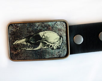 Belt Buckle Skull of Mole