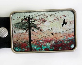 Birds on a Wire Belt Buckle