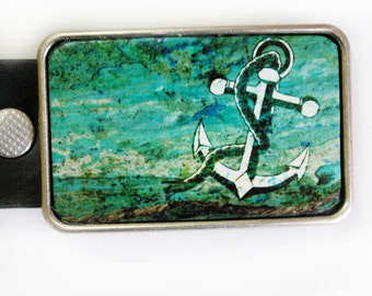 Anchor Belt Buckle Nautical Decor