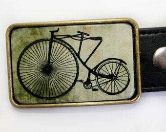 Vintage Bicycle Belt Buckle for Men or Women