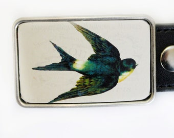 Sparrow Swallow Belt Buckle for Women or Men