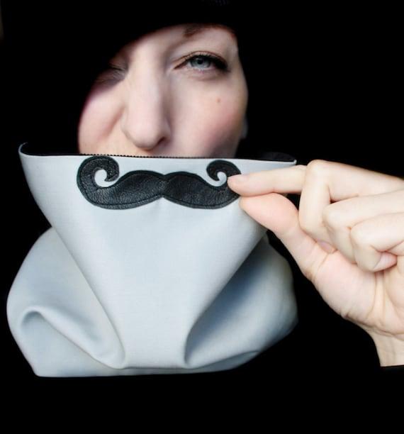 Mustache Neckwarmer - Evil Curly Mustache