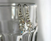 Crystal Clusters in Sterling Silver and Aurora Borealis - 5 Crystals