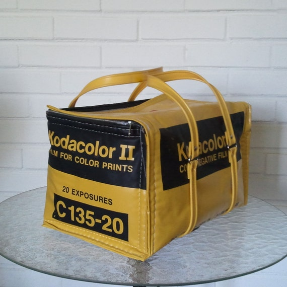 Kodak Insulated Cooler - Vintage 1970s 1980s  Groovy Vinyl Bag