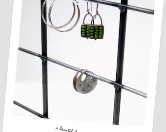 TALL Natural Steel Metal Jewelry Display Rack
