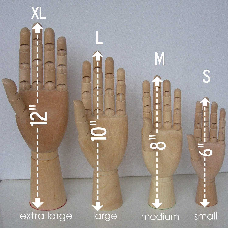 12 Inch Wooden Mannequin Display Hand Large Manikin By Grafix