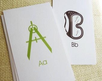 Toolbox Alphabet Flash Cards - 3x5 Printable PDF, ABC Flash Cards